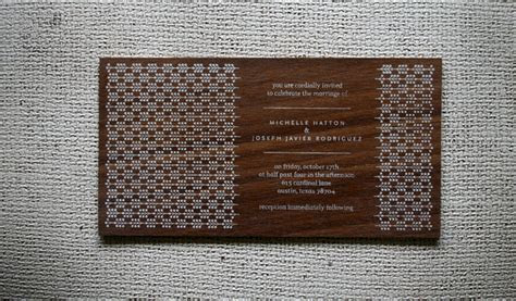 Screen Printed Wood Invitations