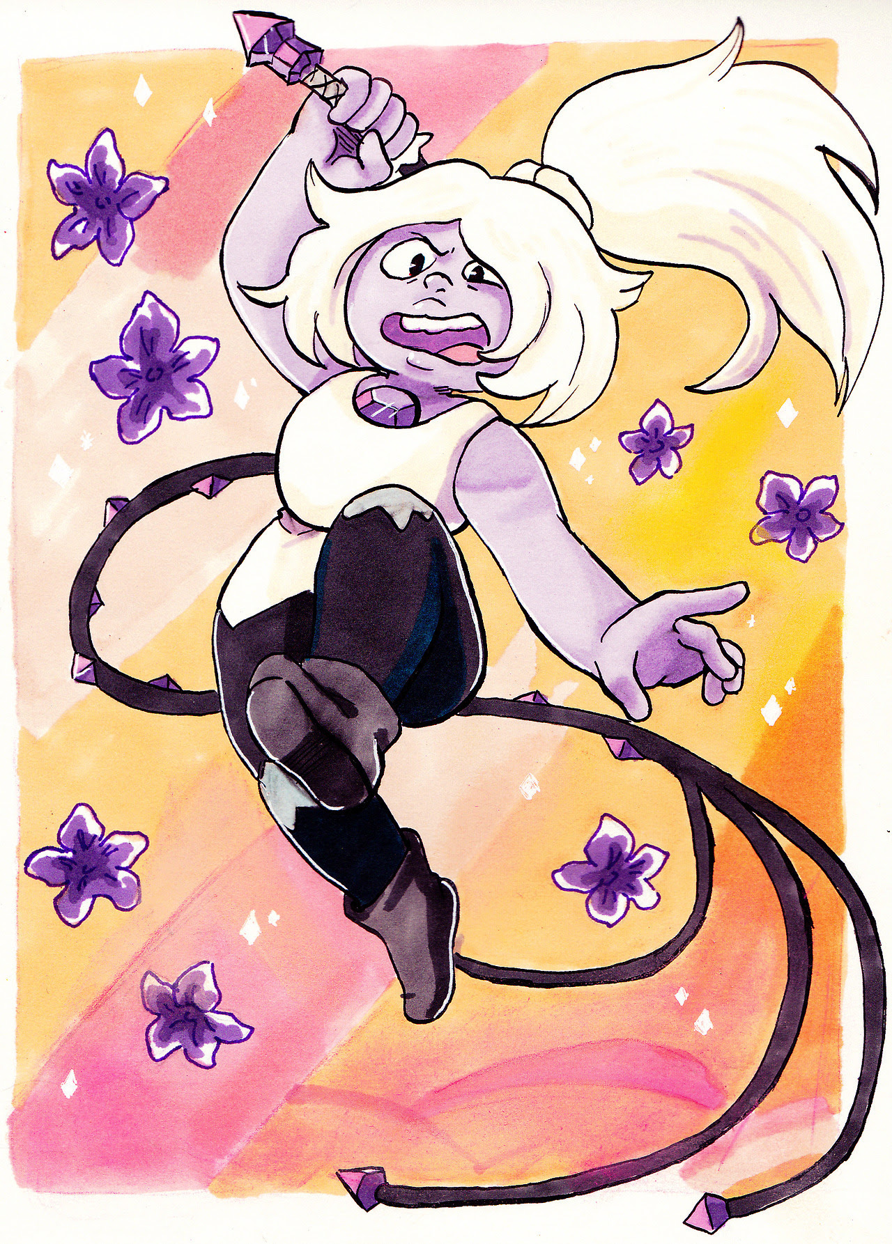 Amethyst! I should buy more promarkers, lack of colours really!