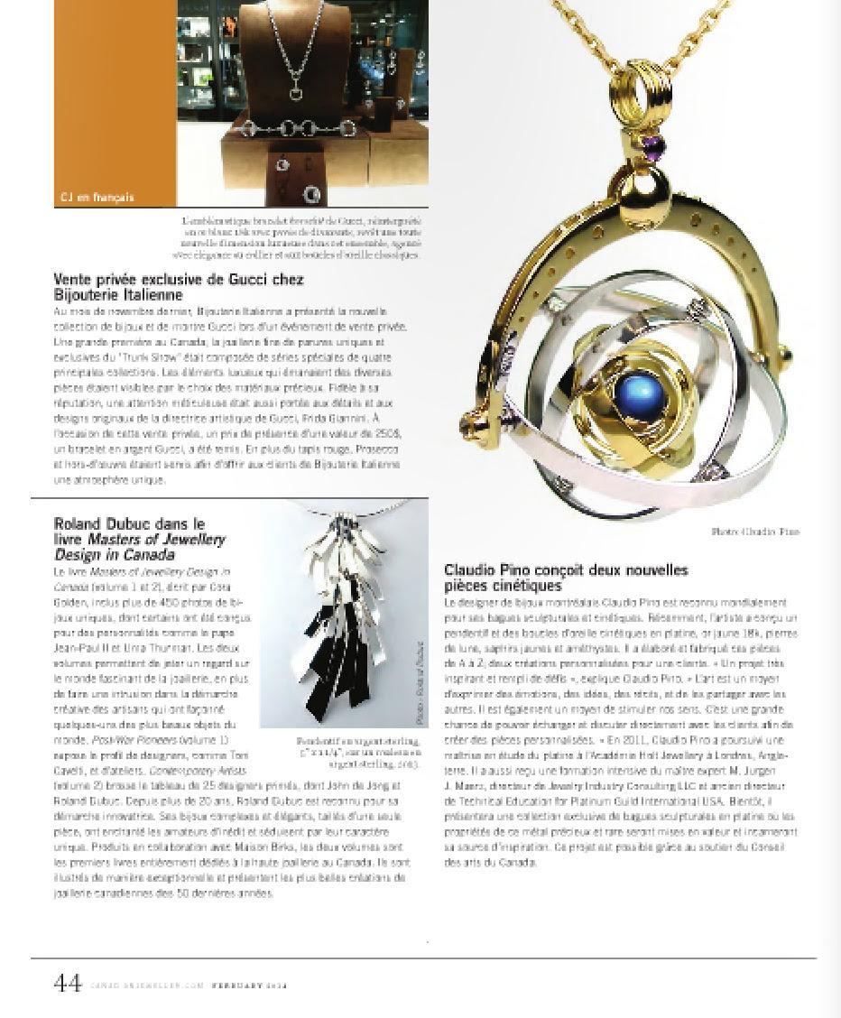 Profile Claudio Pino Design Contemporary Jewellery