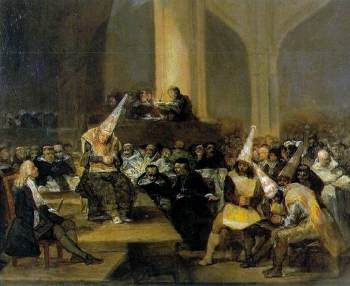 800px-Scene from an Inquisition by Goya