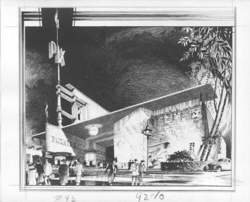 Newsreel Theatre 'Pix' - art deco design drawing
