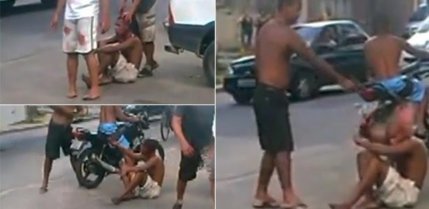23.jan.2014 - Rapaz é morto com três tiros em Belford Roxo, no Rio de Janeiro