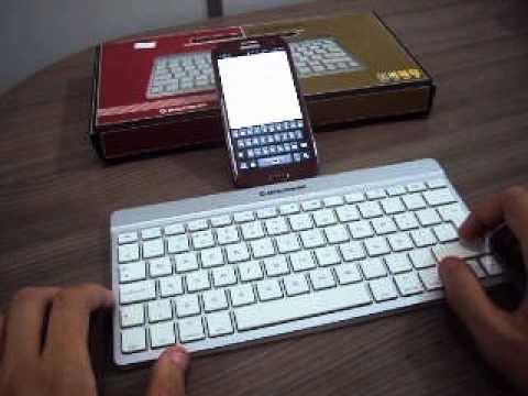teclado bluetooth da Leadership para celular iphone ipad e tablets