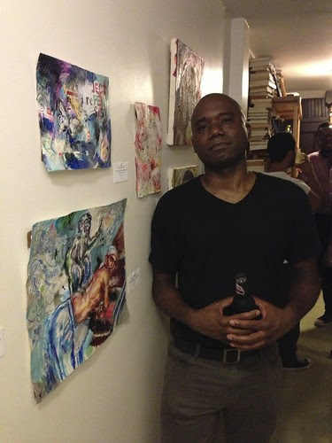 Ricardo Osmondo Francis, with his artwork