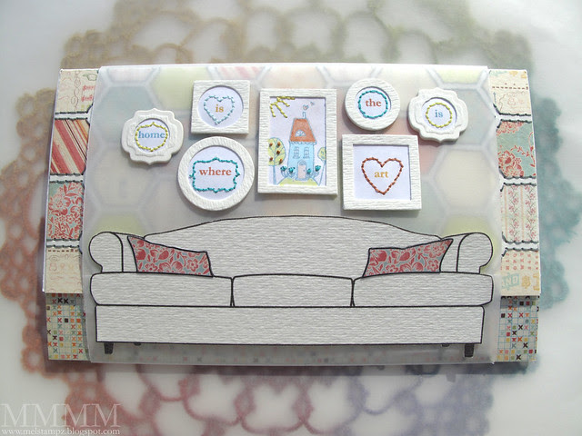 Tiffany Doodles Couch Notebook 1 - belly band cover on