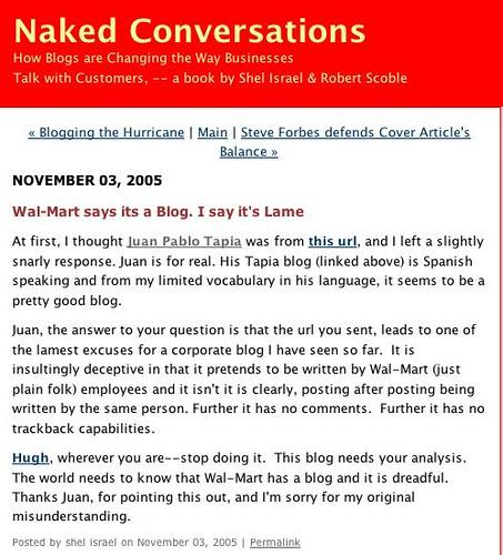 Blog Naked Conversations