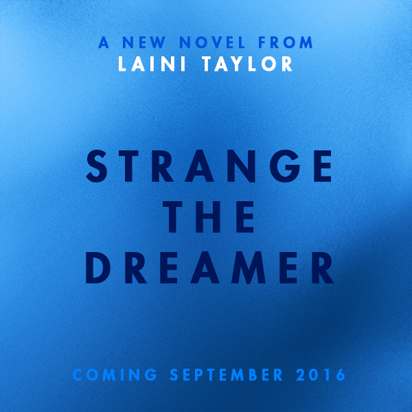 "Strange the DreamerLast week we announced Laini Taylor, author of the Daughter of Smoke & Bone trilogy, as this month's NOVLbox curator (if you haven't entered the giveaway, you can do so here) and teased that we would be sharing news about her new book. You may remember hearing about The Muse of Nightmares back in May—and friends, we have an update. The book is now two books, a duology! The first will be titled Strange the Dreamer and the second book in the series will be The Muse of Nightmares. So why two books instead of one? And why title the first one Strange the Dreamer instead of The Muse of Nightmares? Laini has the answers to all our questions. Take it away Laini!Laini says…From its inception, this story has had co-main characters, and the title ""the Muse of Nightmares"" describes one of the two—the one I was most focused on at the outset, who I believed to be the more fascinating, and who I thought would carry the story. But stories can be unruly things. Characters can surprise you, and the other character quite spectacularly did: taking over the beginning of the book and sweeping me off my feet. His name is Lazlo Strange, and he's a junior librarian at the world's greatest library. One of the first things that made me fall in love with him was when it came out that his nose had been broken by a falling volume of fairy tales. It was this tiny thing that came from of my fingertips one day (sometimes the words seem just to appear in the space between your fingertips and the keyboard), and suddenly…I had him: ""Strange the Dreamer,"" so-called by his colleagues, and not always kindly.Initially I titled a chapter ""Strange the Dreamer,"" and I hadn't looked at it more than a couple of times before it struck me that I loved the sound of it beyond reason and that was my book title. I only hoped my editor and publishers would agree, and I was so, so pleased that they did! And because it will be followed by its sequel, The Muse of Nightmares, I didn't have to sacrifice that title, which I also love. I can't tell you how eager I am for readers to meet these two characters, and all the others who people this peculiar new world I'm building. I hope you will love them as much as I do!Thanks, Laini! We love the new title and we're glad to hear that the other will be sticking around. And thank you for telling us a little more about this new character! We like Lazlo already. Above all, we're psyched that we'll be getting TWO books in this new magical world that you created. Strange the Dreamer will be released on September 27, 2016, and it is the story of: the aftermath of a war between gods and men.a mysterious city stripped of its name.a mythic hero with blood on his hands.a young librarian with a singular dream.a girl every bit as perilous as she is imperiled.alchemy and blood candy, nightmares and godspawn, moths and monsters, friendship and treachery, love and carnage.Welcome to Weep."