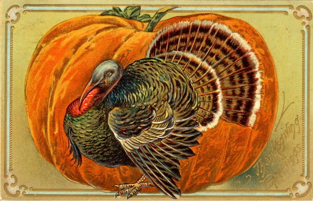 Vintage Thanksgiving Postcard Free To Use In Your Art