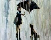 Umbrella For Two.  2011    Original Oil painting print  on Canvas  16x20  80 .00 - IGORMUDROVART