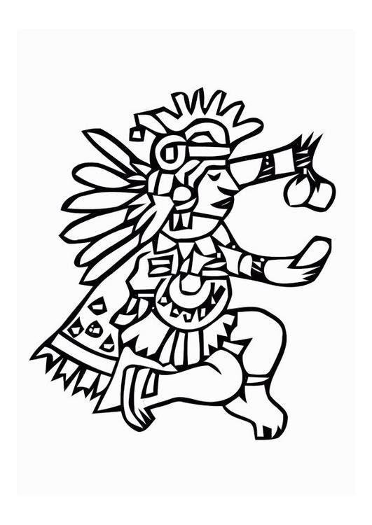 Imagenes De Dioses Aztecas Para Colorear Imagui