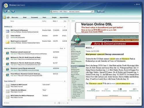 Windows Live Search Desktop