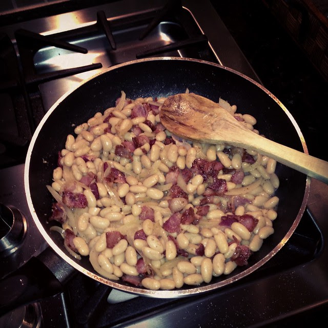Bacon and white beans