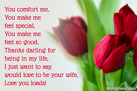You Comfort Me You Make Me Feel Love Message For Boyfriend