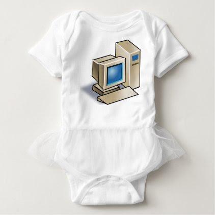 Retro Computer Baby Bodysuit