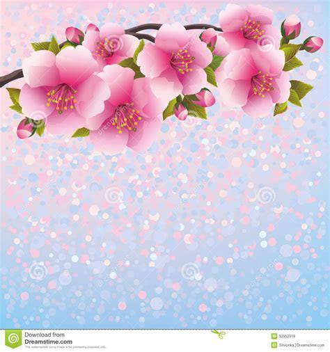 Purple Background With Sakura Blossom   Japanese C Royalty