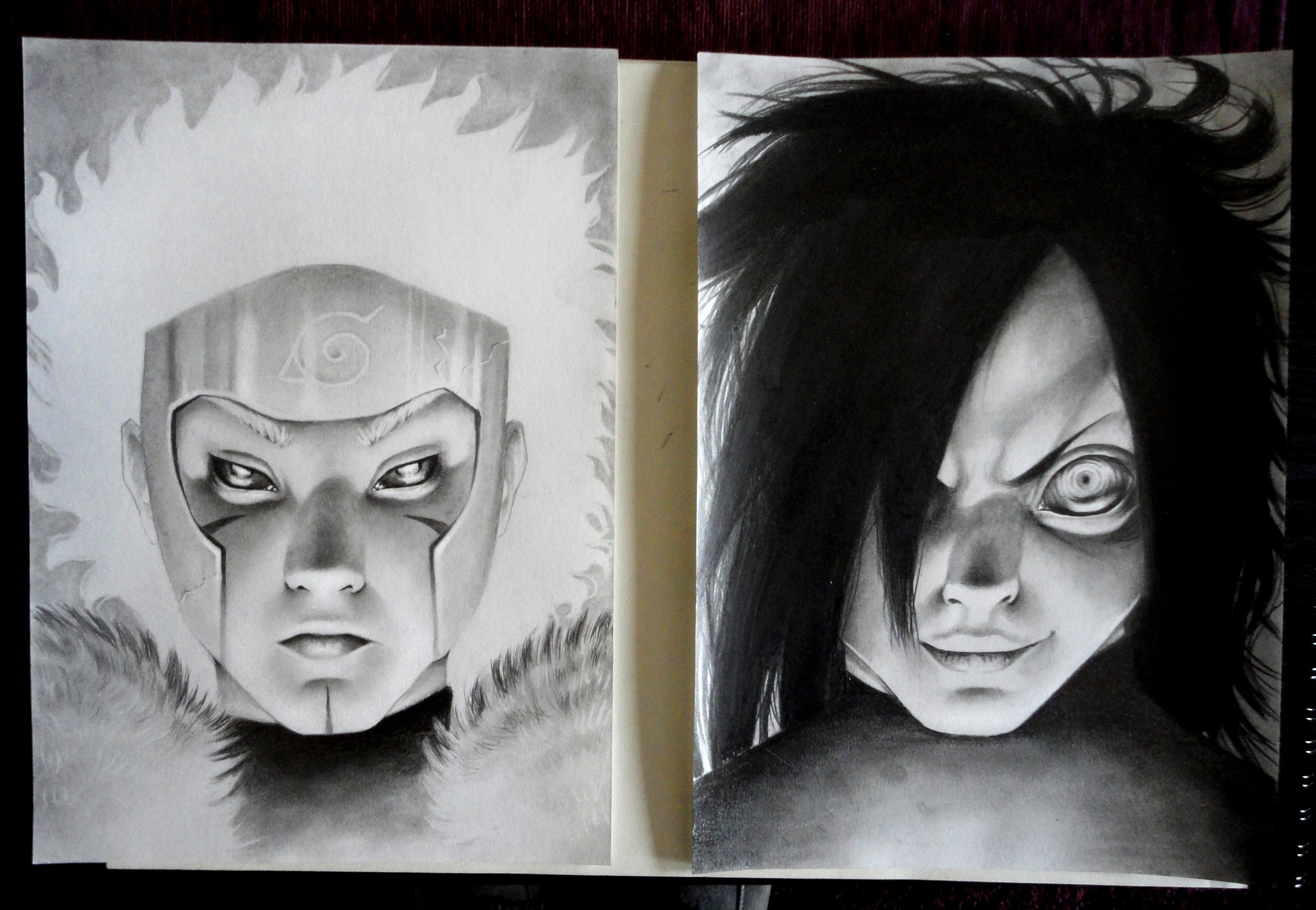 I Drew Tobirama And Madara In December After Finishing The Manga My First Naruto Fanarts Since 2008 An Unfinished Hashirama Can Be Found In The Comments Naruto