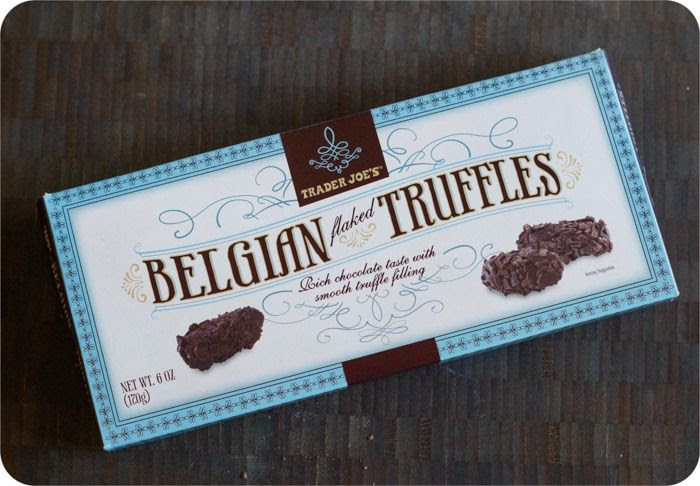 trader joe's belgian flaked truffles review : part of a weekly review series of tj's desserts and treats