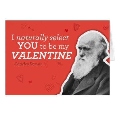 I Naturally Select You - Funny Charles Darwin Valentine's Day Card