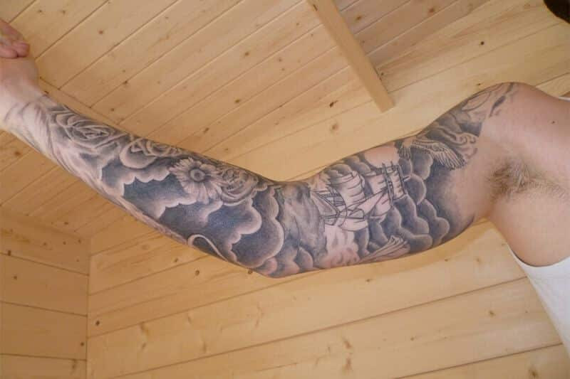 Full Sleeve Cloud And Ship Tattoo Designs For Men Tattoo Bytes