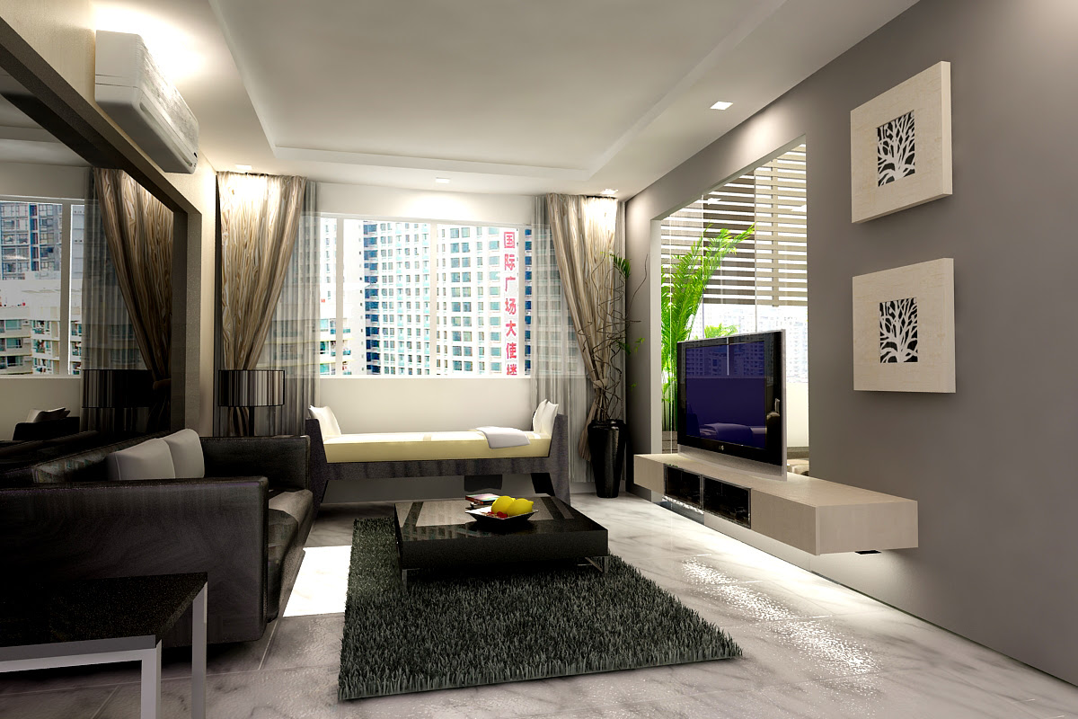 Small Modern Living Room Design Space Best Concept Home On ...