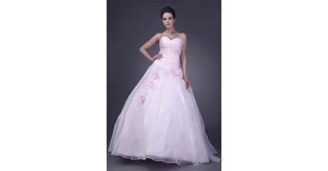 Pink Ball Gown Sweetheart Floor length Flowers Organza