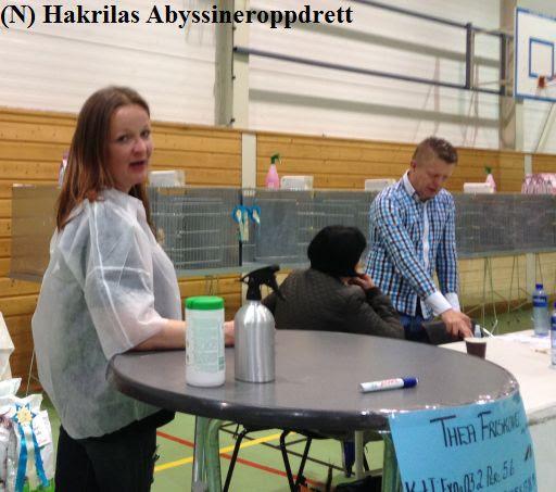 Det blir ingen utstilling uten dommerassistentene, og her er det Christine som er assistent :)