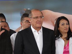 Alckmin falou sobre a Cracolândia em evento em Francisco Morato (Foto: Juliana Cardilli/G1)