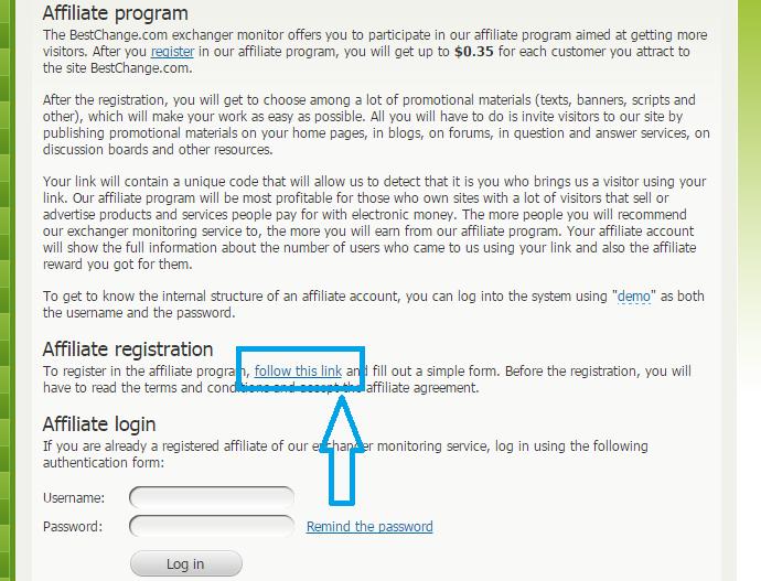bestchange, earn 0.35$ per ref and 0.04$ per link visit ...