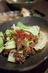 プリプリホルモンのピリ辛炒め, 広島お好み焼き Big-Pig 神田西口点