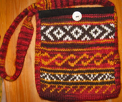 homespun handknit bag