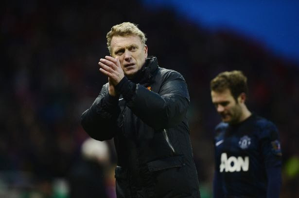 Did enough: Moyes applauds the away fans having felt his side merited victory