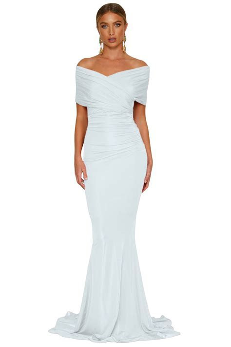 White Off shoulder Mermaid Wedding Party Gown ? Charming Wear