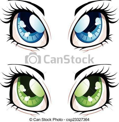 anime style eyes set  manga anime style eyes