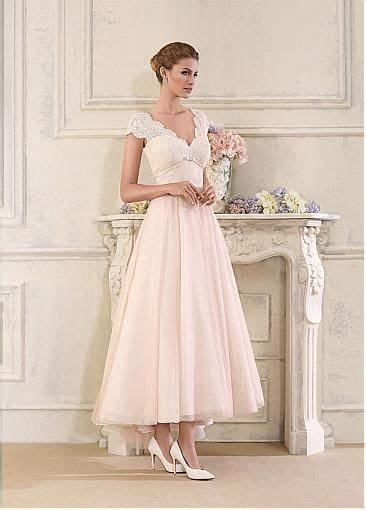 Stunning Tulle & Satin V Neck A Line Ankle length Wedding