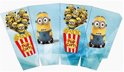 Minions on Blue Background: Free Printable Mini Kit.   Oh