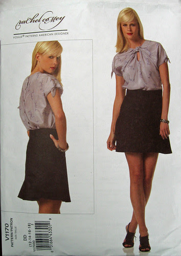 Vogue 1170 skirt and top