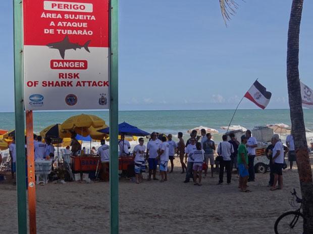 Propesca faz manifestação no Recife (Foto: Gabriela Alcântara / G1)