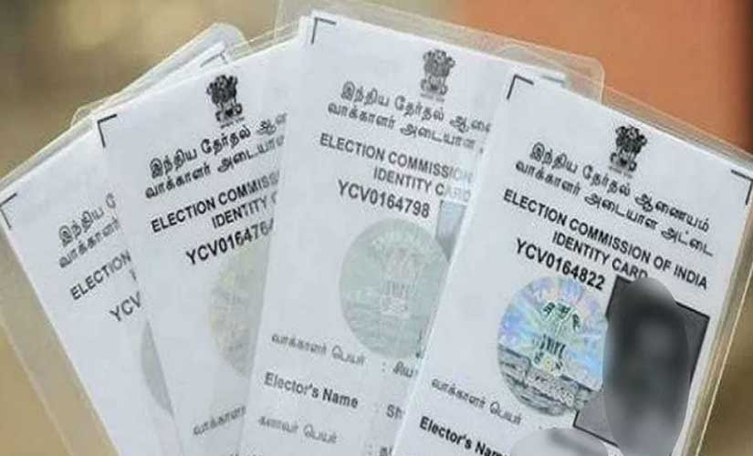 Representational image of Voter ID card. Image courtest News18 Bengali