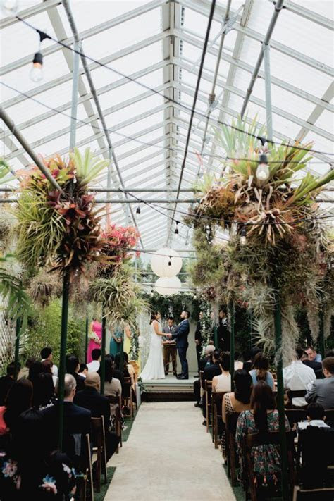 Colorful Crystal Inspired Greenhouse Wedding at Shelldance
