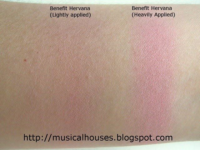 benefit hervana swatches