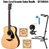 Yamaha FG700S Acoustic Guitar + Snark SN-5 Guitar Bass and Violin Tuner, Classical Guitar Strings, On Stage Tripod...