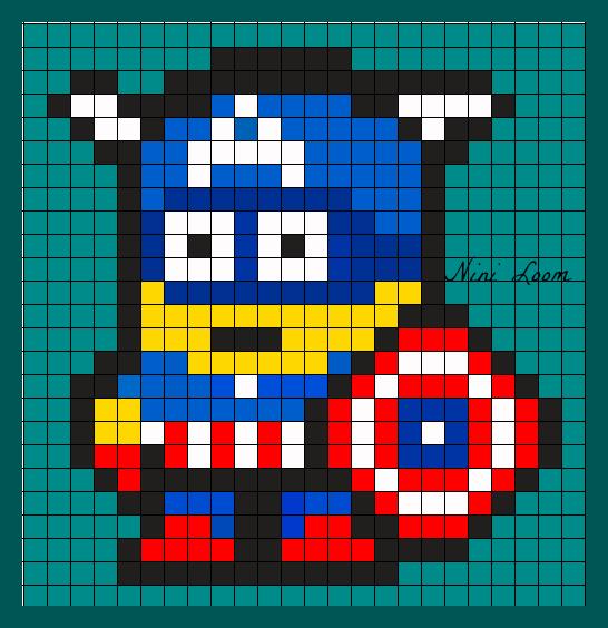 Art Pixel Art Facile Petit Carreaux