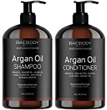 #10: Moroccan Argan Oil Shampoo & Conditioner Set 16 Oz - Volumizing & Moisturizing, Gentle on Curly & Color Treated Hair, for Men & Women. Infused with Keratin.
