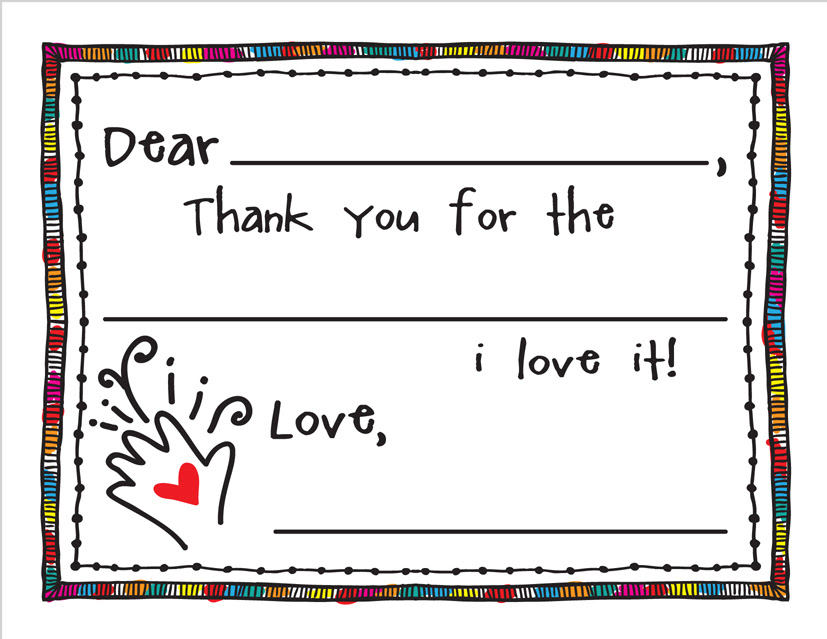 A Special Dollar Download Fill In Thank You Cards For Kids