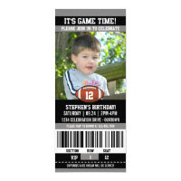 Football Birthday Photo Template Card