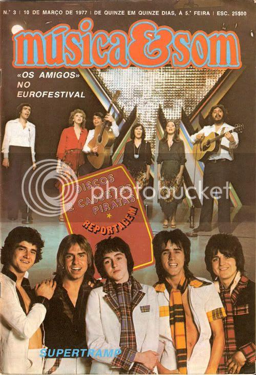 Reprodução da capa do número 3 de Música & Som, datado de 10 de Março de 1977.