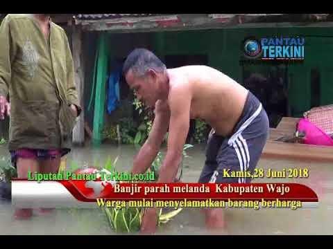 Banjir Parah Melanda Wajo , Masyarakat Mengungsi Di Posko Pengungsian