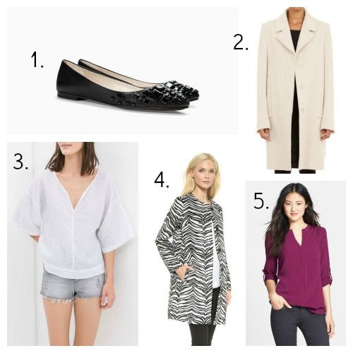 Zara Flats - Maison Martin Margiela Coat - Zara Linen Top - BB Dakota Coat - Pleione Tunic