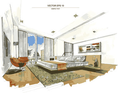Interior free vector download 417 Free vector for commercial use. format: ai, eps, cdr, svg - Furniture Room Interior Design Apartment Home Decor Concept Flatcontemporary Architecture