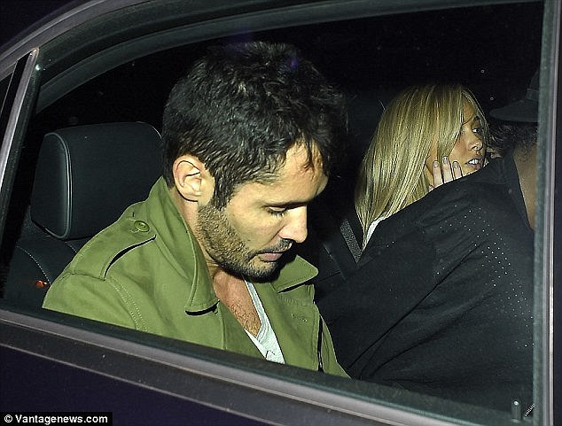Short-lived: Jean-Bernard Fernandez-Versini was spotted exiting London's Chiltern Firehouse with Nicola around the time she broke up with Alex